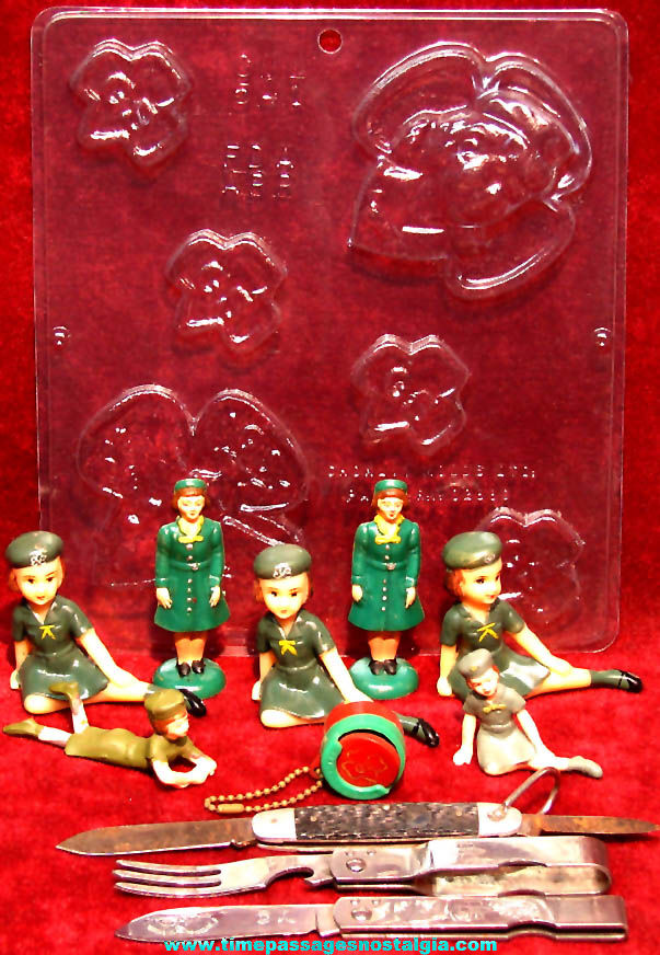 (12) Various Old Girl Scout Related Advertising and Emblem Items