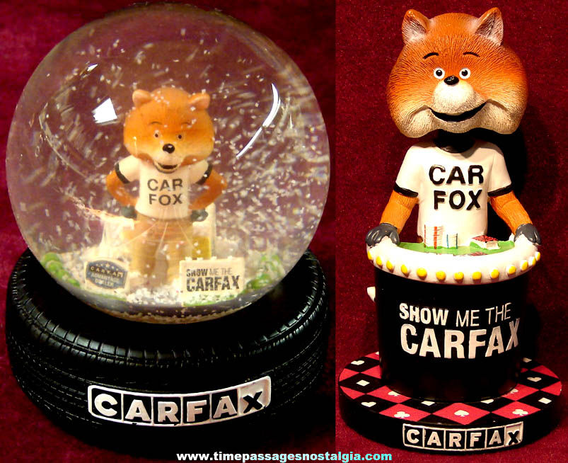 (2) Different Colorful Car Fax Advantage Dealer Car Fox Advertising Character Items