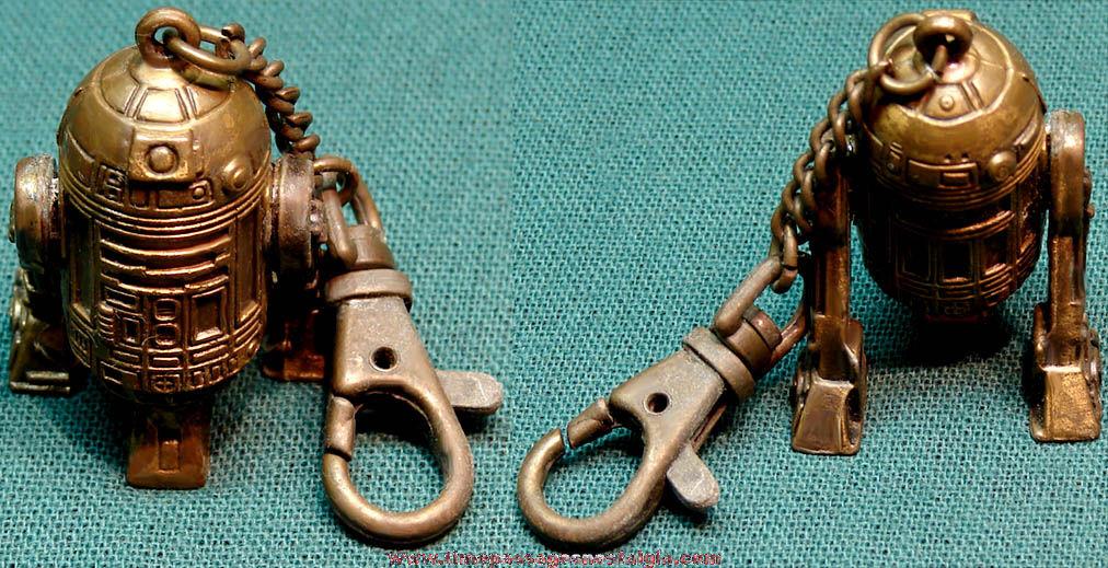 ©1995 Star Wars R2D2 Robot Character Metal Key Chain