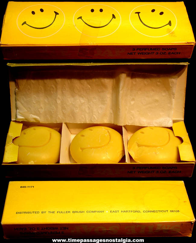Old Unused & Boxed Fuller Brush Company Smile Face Soap Set