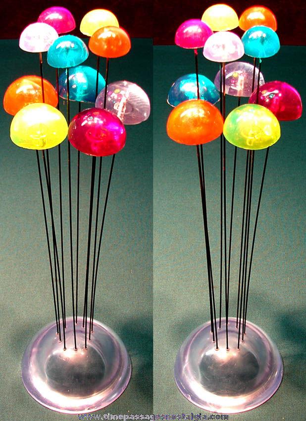 Colorful Old Plastic & Metal Mod Decorative Sculpture