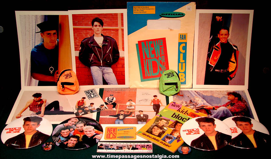 (19) New Kids on The Block Pop Music Band Advertising or Promotional Items