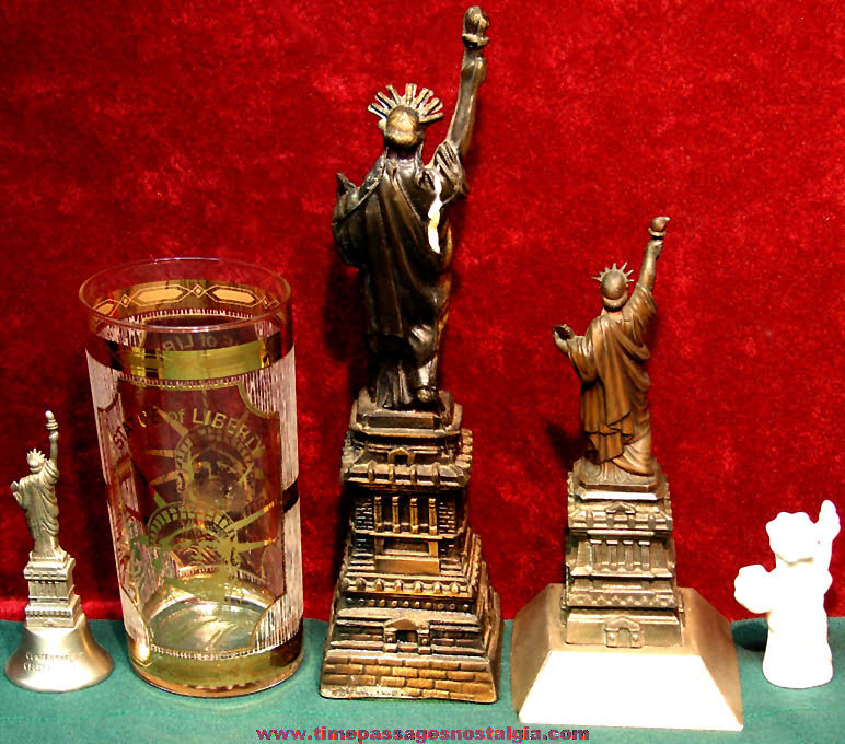 (5) Different Old Statue of Liberty Advertising or Souvenir Items