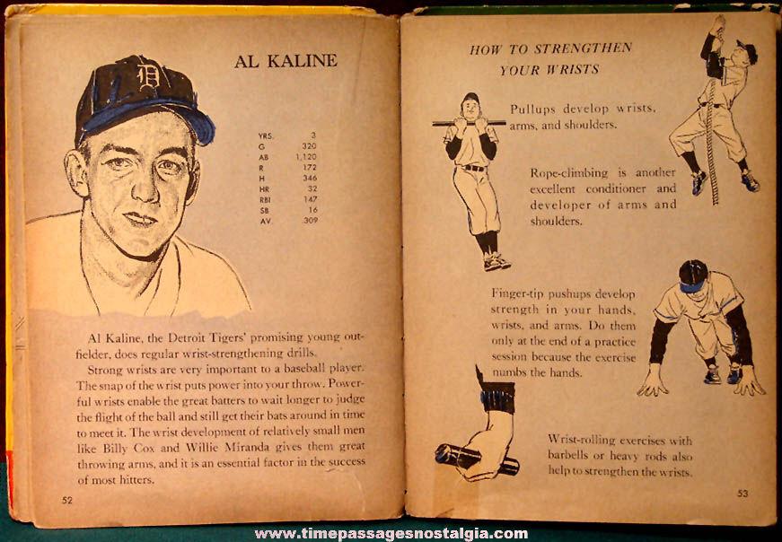 ©1956 Inside Baseball For Little Leaguers Hard Back Sports Wonder Book