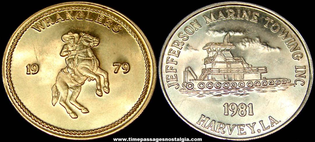 Jefferson Marine Towing Harvey Louisiana Advertising Token Coin
