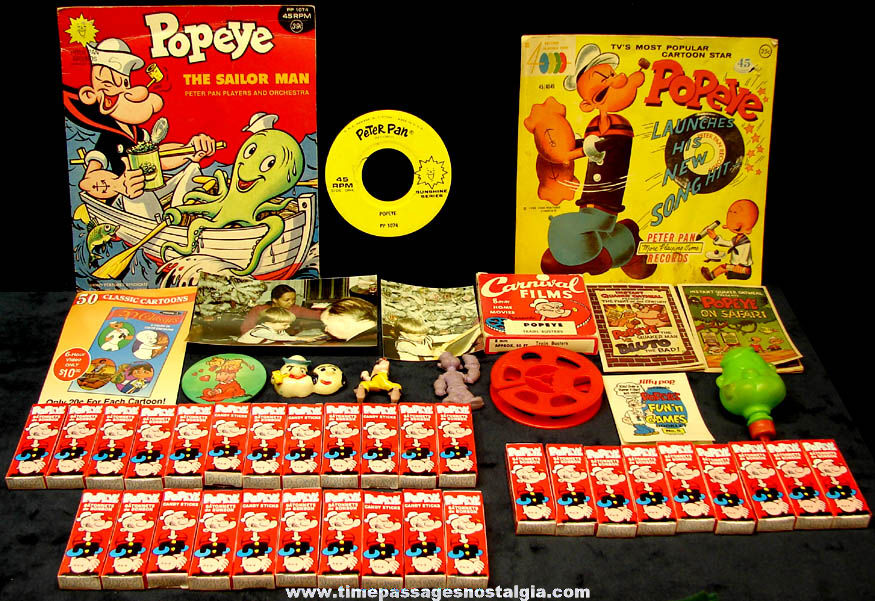 (45) Old Popeye The Sailor Cartoon & Comic Book Character Items