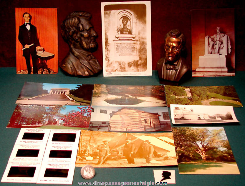 (21) Different Small Old United States President Abraham Lincoln Items