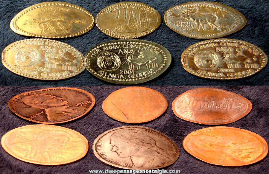 (6) Elongated Advertising and Souvenir Coins
