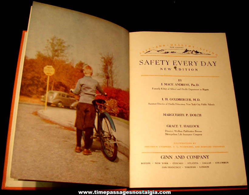 ©1945 Safety Every Day City of Worcester Massachusetts Illustrated School Book