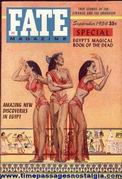 (4) 1954 FATE Magazines #54-#57