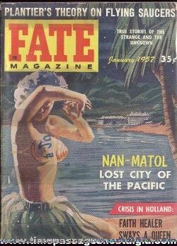 (4) 1957 FATE Magazines