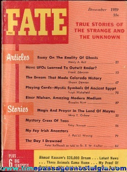 (4) 1959 FATE Magazines #114-#117