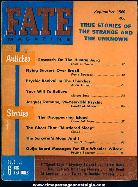 FATE Magazine - September 1960