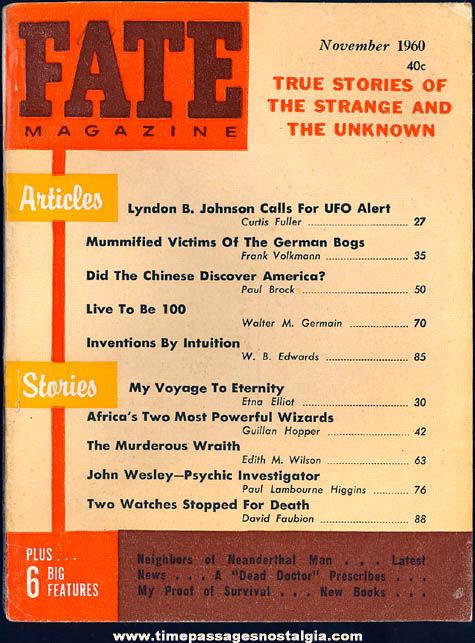 FATE Magazine - November 1960