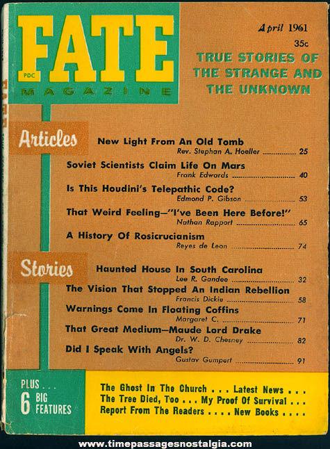 FATE Magazine - April 1961