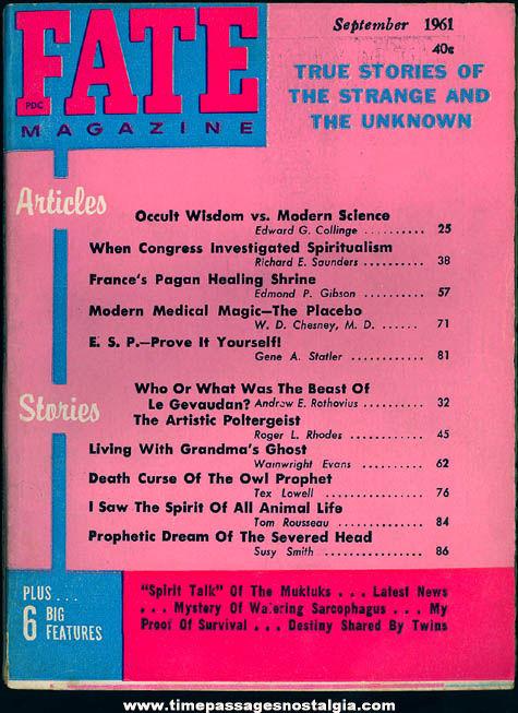 FATE Magazine - September 1961