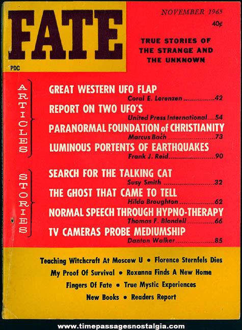 FATE Magazine - November 1965