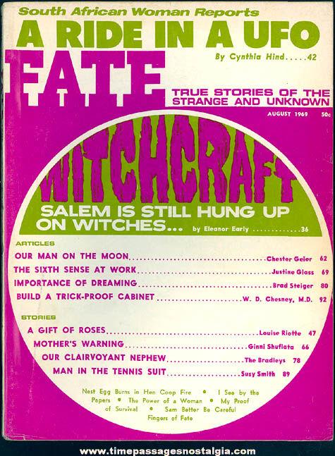 FATE Magazine - August 1969