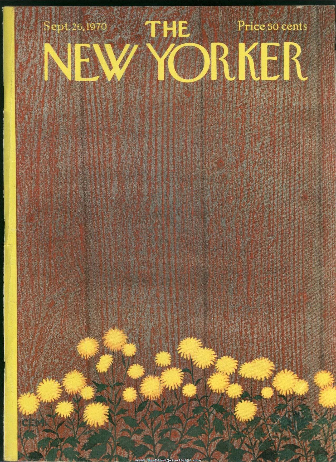 New Yorker Magazine - September 26, 1970 - Cover by Charles E. Martin