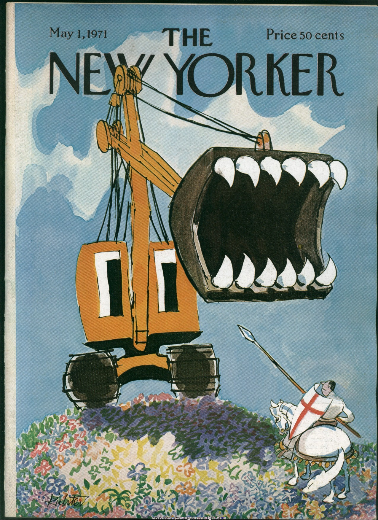 New Yorker Magazine - May 1, 1971 - Cover by Mischa Richter