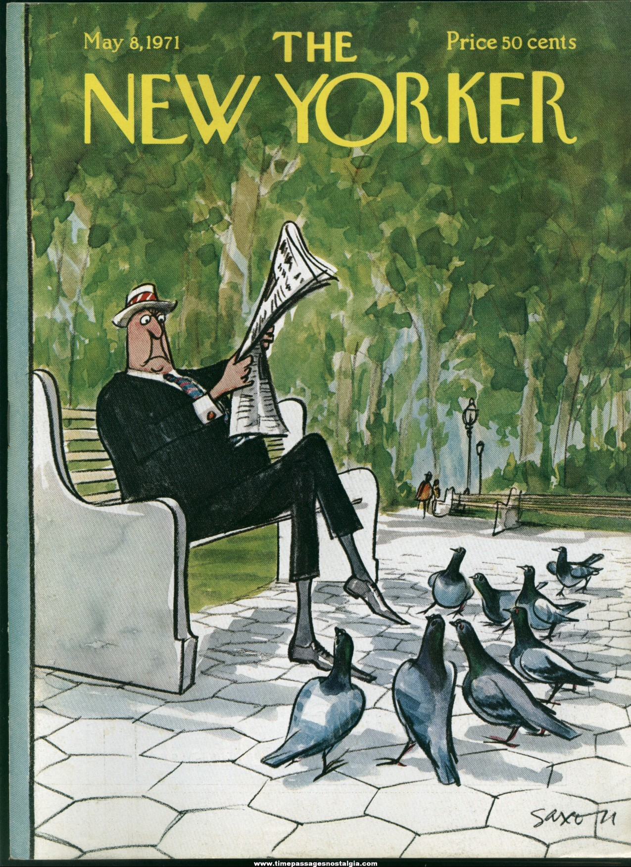 New Yorker Magazine - May 8, 1971 - Cover by Charles Saxon