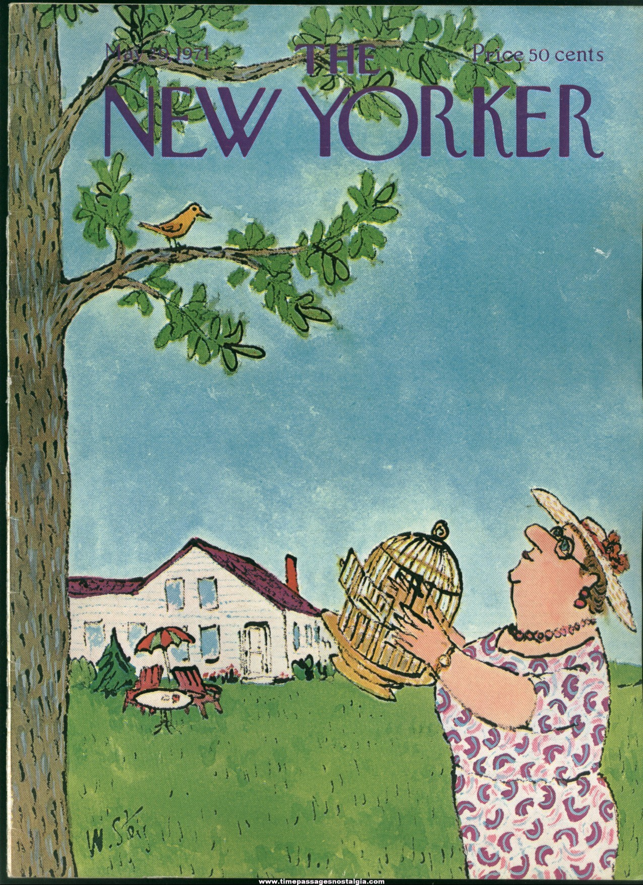 New Yorker Magazine - May 29, 1971 - Cover by William Steig