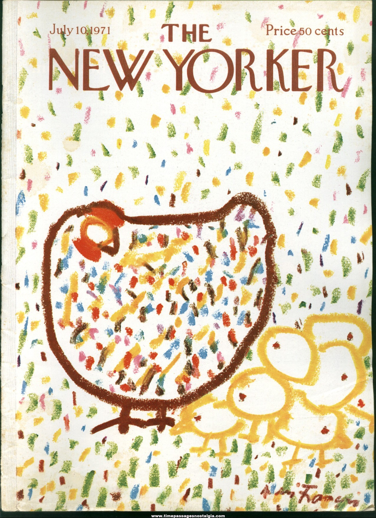 New Yorker Magazine - July 10, 1971 - Cover by Andre Francois