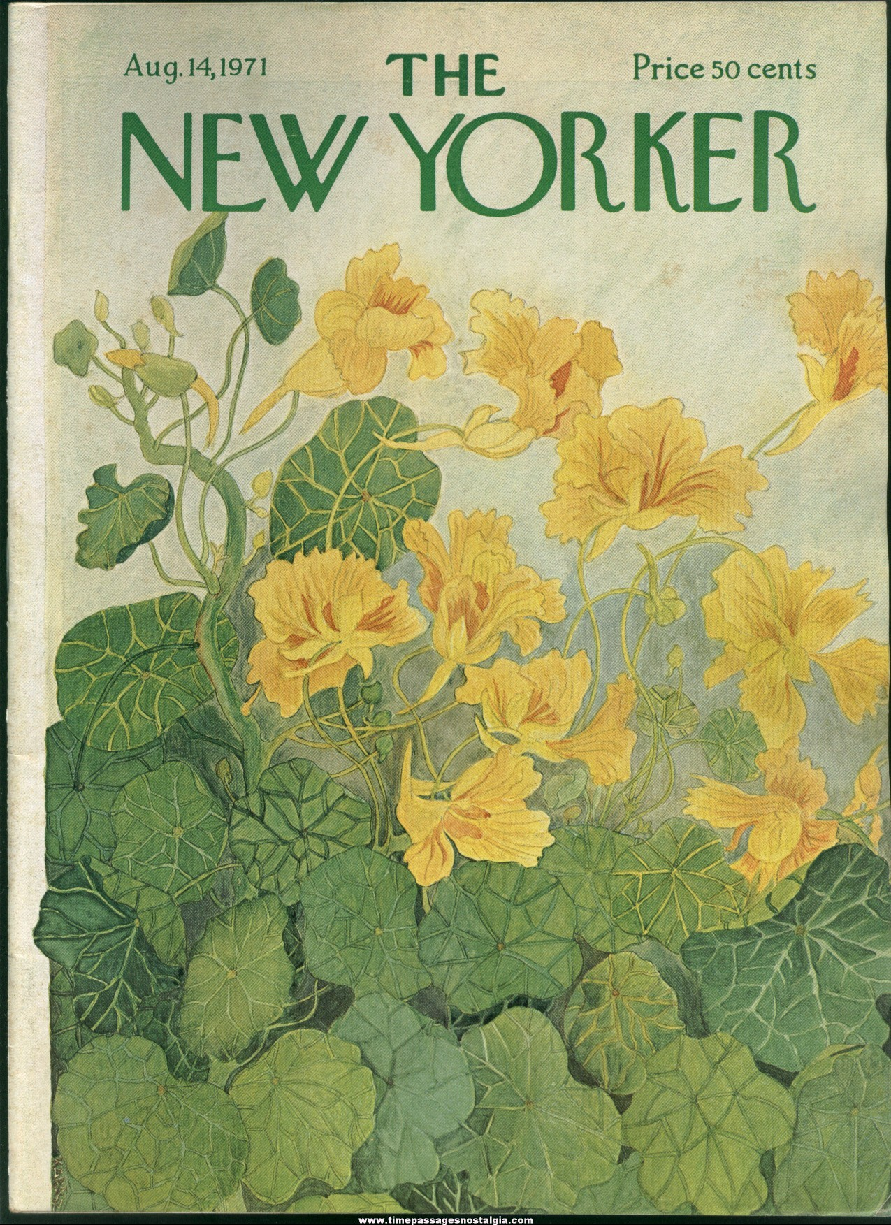 New Yorker Magazine - August 14, 1971 - Cover by Ilonka Karasz