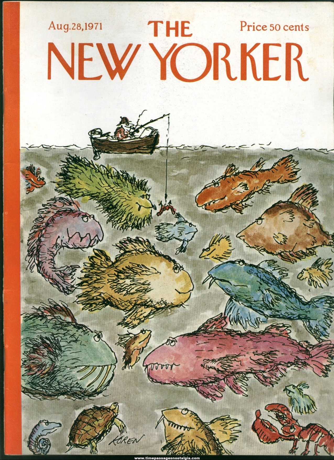 New Yorker Magazine - August 28, 1971 - Cover by Edward Koren