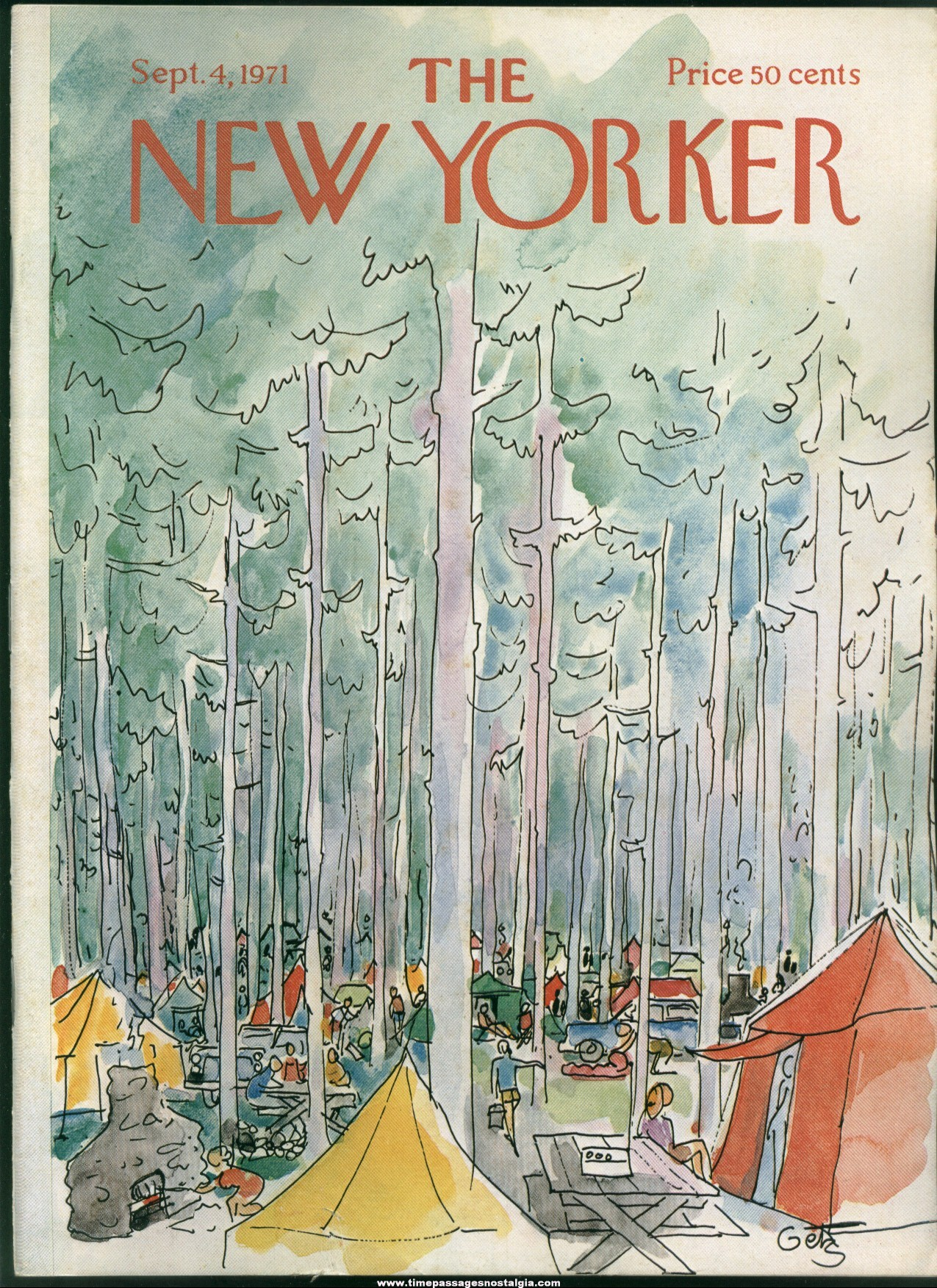 New Yorker Magazine - September 4, 1971 - Cover by Arthur Getz