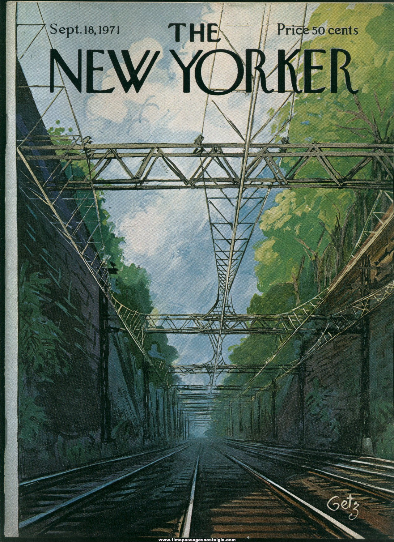 New Yorker Magazine - September 18, 1971 - Cover by Arthur Getz