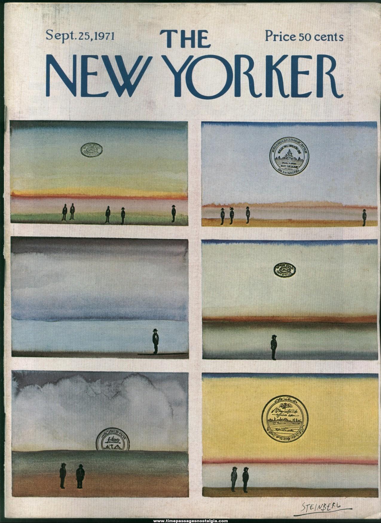 New Yorker Magazine - September 25, 1971 - Cover by Saul Steinberg
