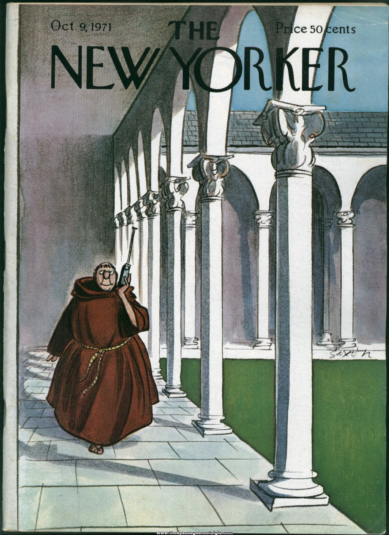 New Yorker Magazine - October 9, 1971 - Cover by Charles Saxon