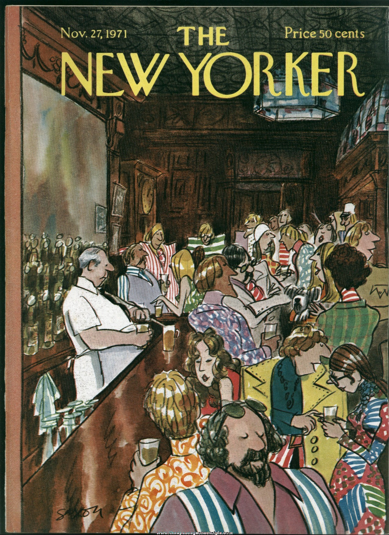 New Yorker Magazine - November 27, 1971 - Cover by Charles Saxon