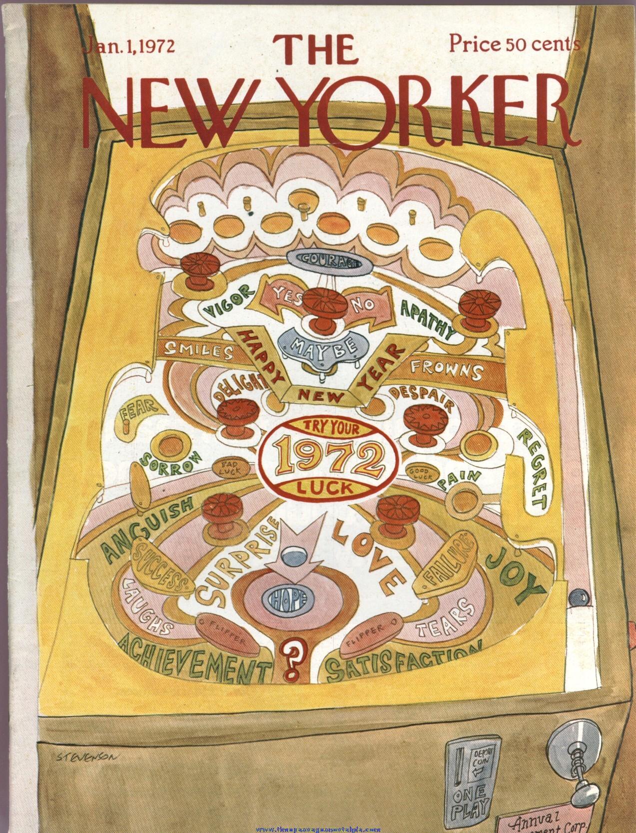 New Yorker Magazine - January 1, 1972 - Cover by James Stevenson