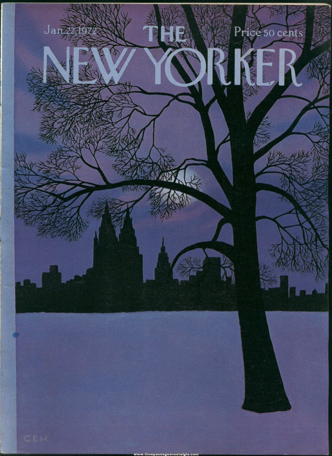 New Yorker Magazine - January 22, 1972 - Cover by Charles E. Martin