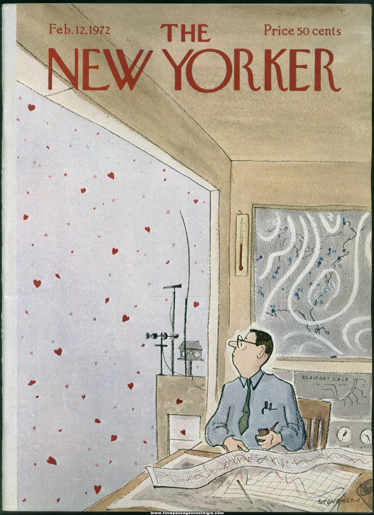 New Yorker Magazine - February 12, 1972 - Cover by James Stevenson
