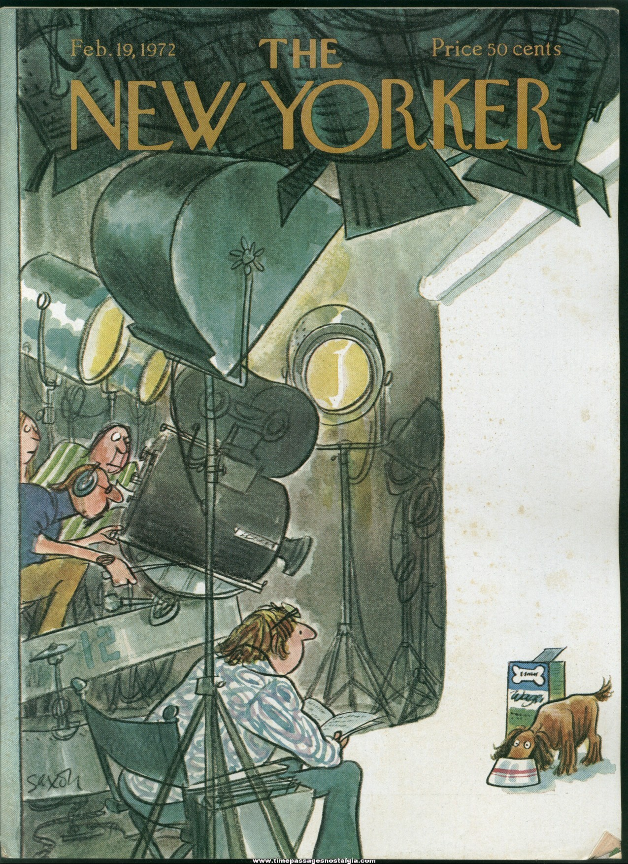 New Yorker Magazine - February 19, 1972 - Cover by Charles Saxon