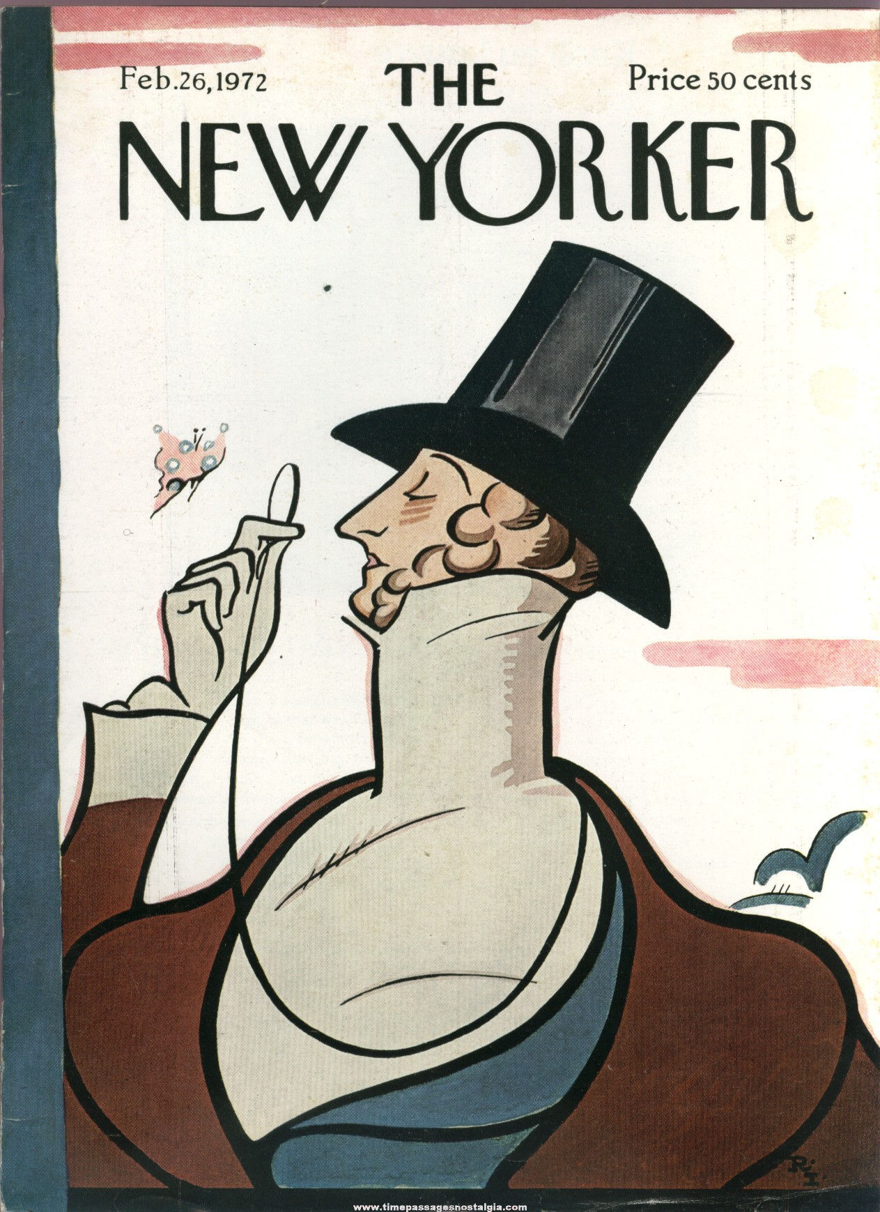 New Yorker Magazine - February 26, 1972 - Cover by Rea Irvin