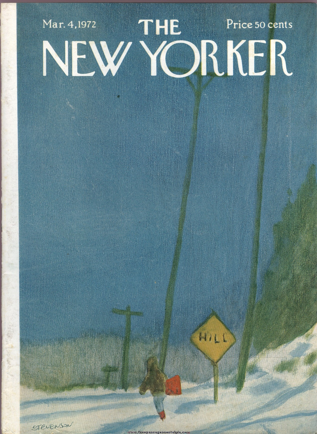 New Yorker Magazine - March 4, 1972 - Cover by James Stevenson
