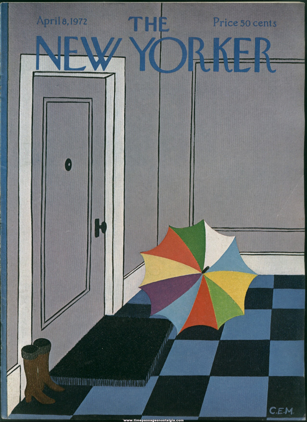 New Yorker Magazine - April 8, 1972 - Cover by Charles E. Martin