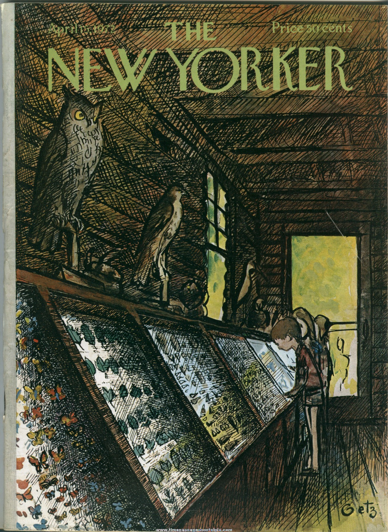 New Yorker Magazine - April 15, 1972 - Cover by Arthur Getz
