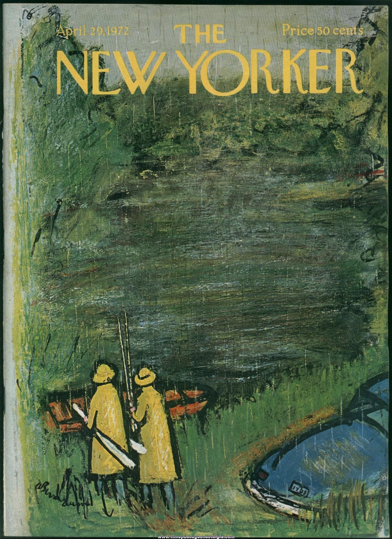 New Yorker Magazine - April 29, 1972 - Cover by Abe Birnbaum