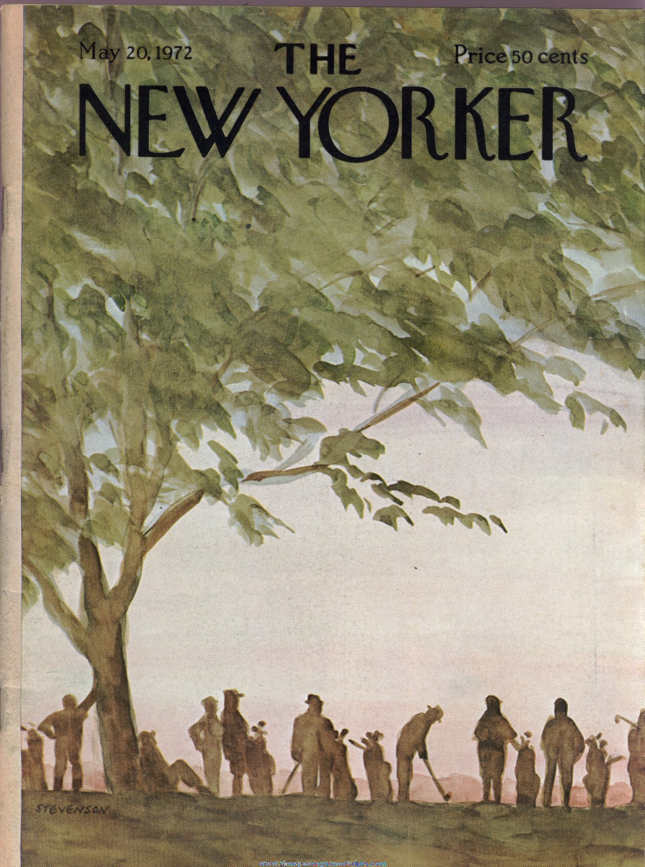 New Yorker Magazine - May 20, 1972 - Cover by James Stevenson