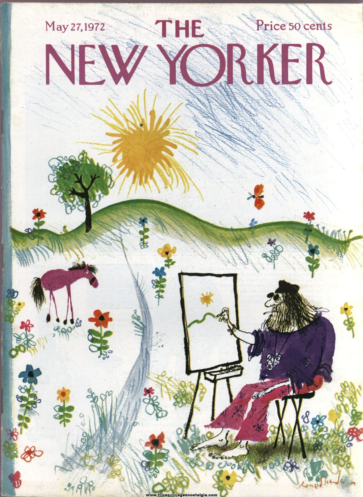 New Yorker Magazine - May 27, 1972 - Cover by Ronald Searle