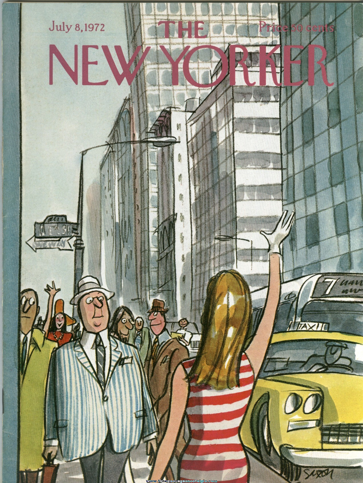 New Yorker Magazine - July 8, 1972 - Cover by Charles Saxon