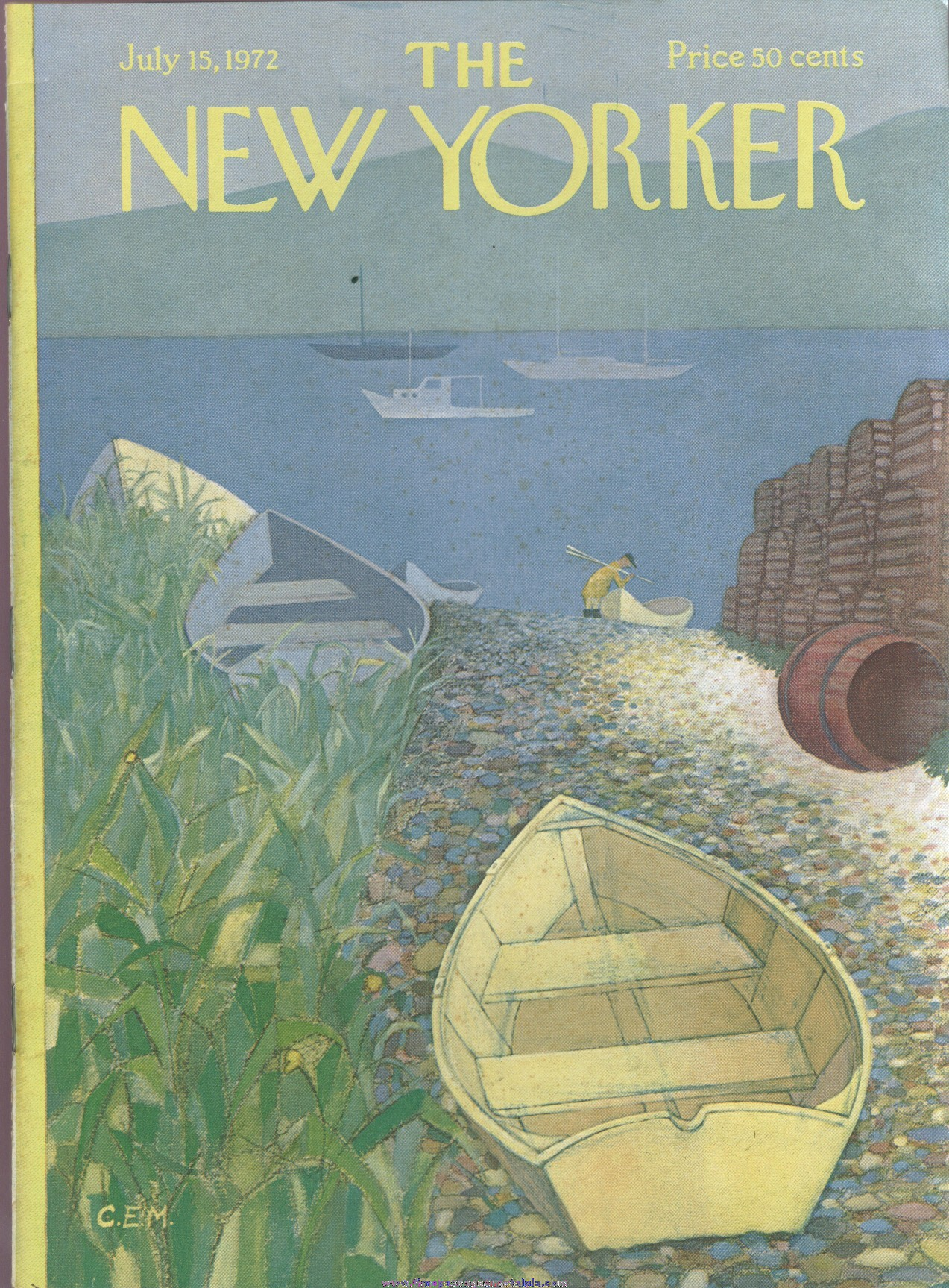 New Yorker Magazine - July 15, 1972 - Cover by Charles E. Martin