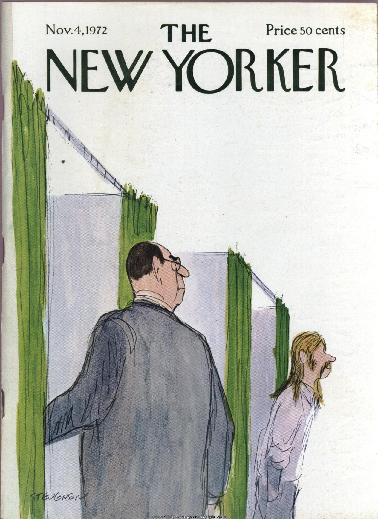 New Yorker Magazine - November 4, 1972 - Cover by James Stevenson