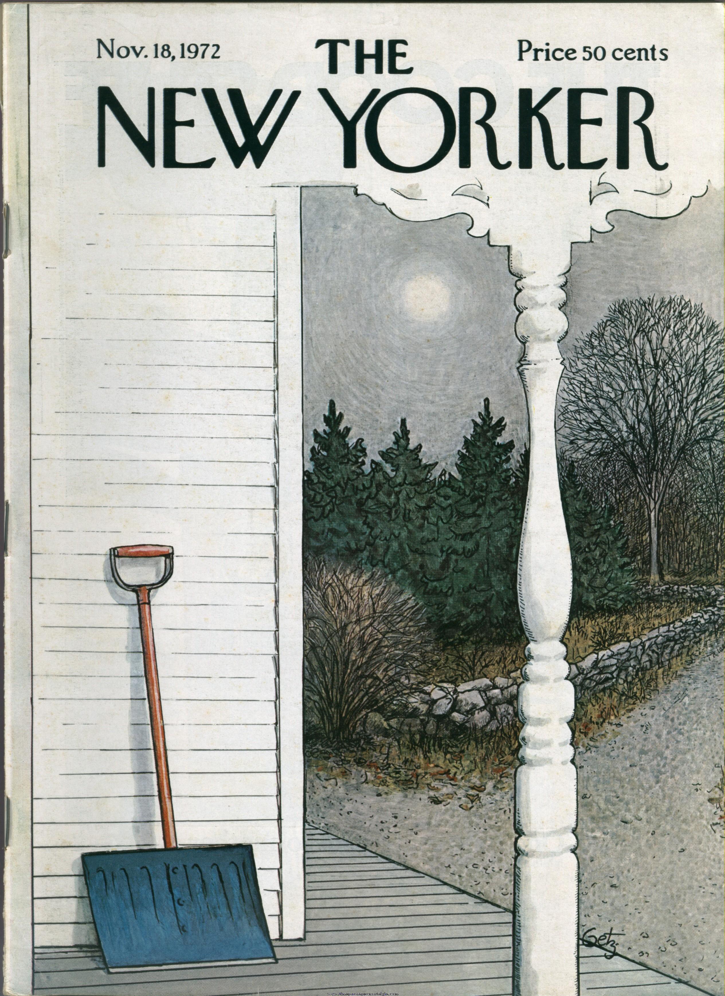 New Yorker Magazine - November 18, 1972 - Cover by Arthur Getz