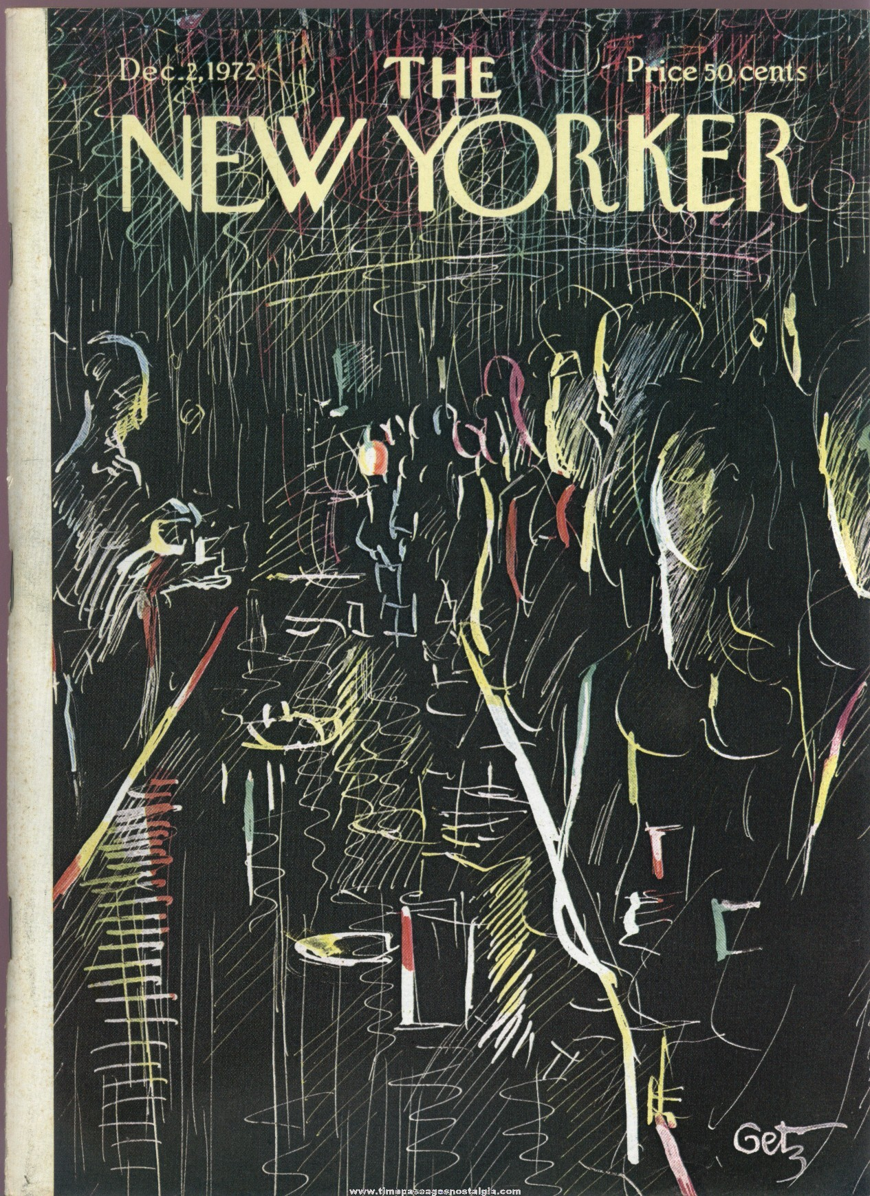 New Yorker Magazine - December 2, 1972 - Cover by Arthur Getz